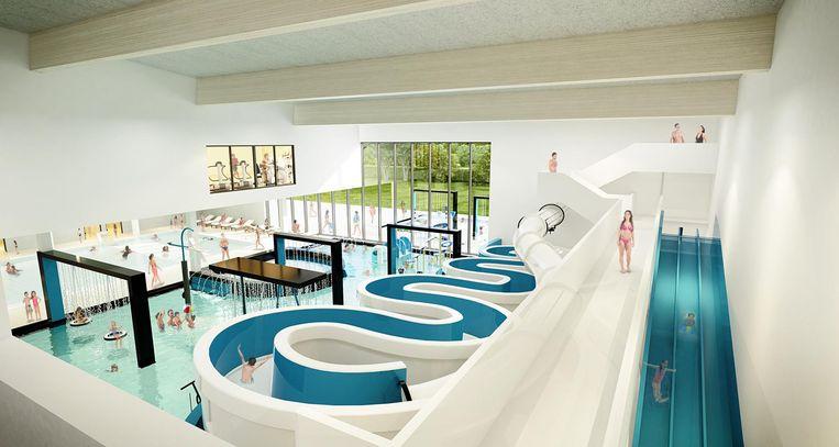 Zo moet het nieuwe zwembad er gaan uitzien.