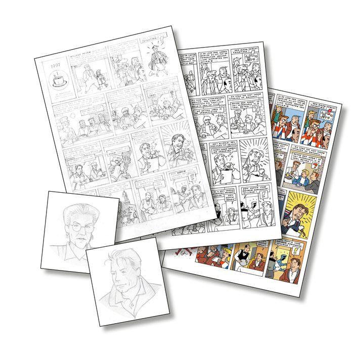 Het stripboek over Willem II in wording.