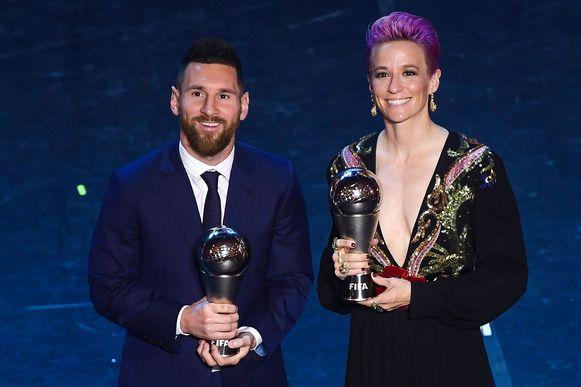 Lionel Messi en Megan Rapinoe.