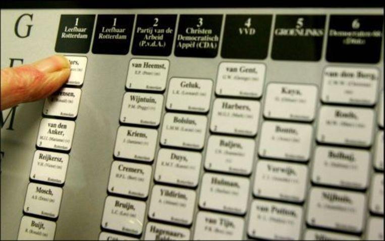 In 2006 kon er nog met de stemcomputer worden gestemd. ANP Beeld
