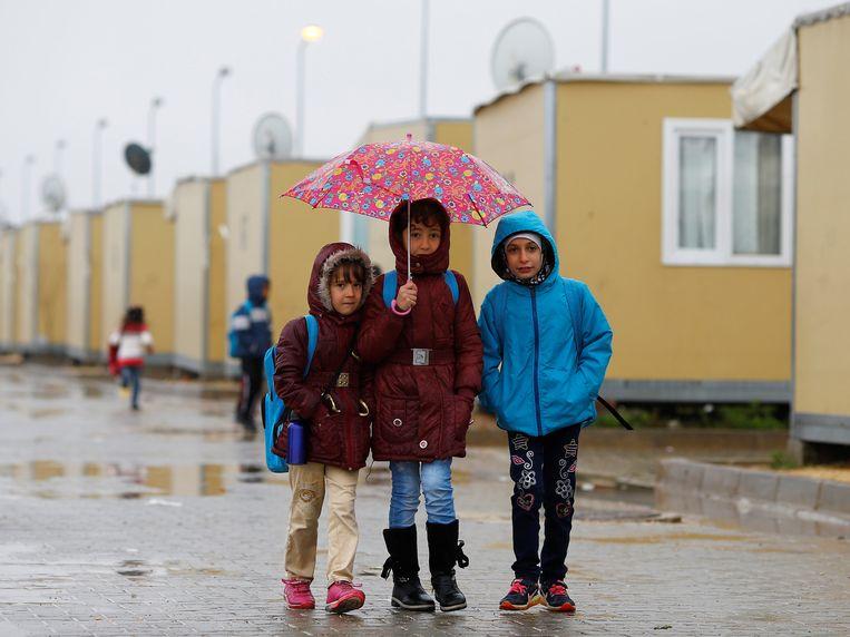 Syrische vluchtelingenkinderen in een Turks vluchtelingenkamp. Archieffoto.