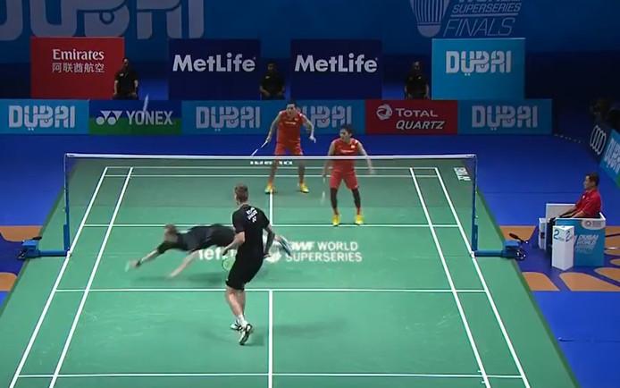 Still uit de badmintonrally.