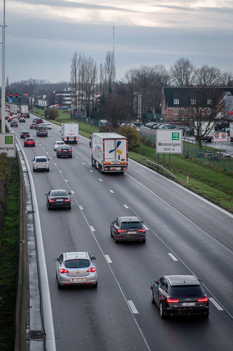 Illustratiebeeld: de E313 tussen Wijnegem en Wommelgem.