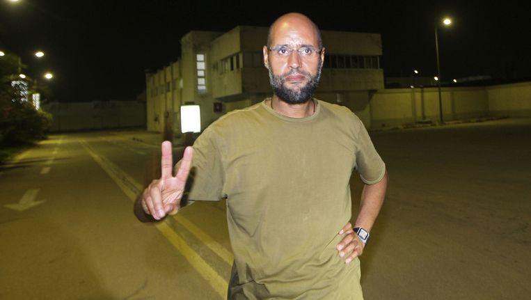 Saif al-Islam Kaddafi. ©AFP Beeld