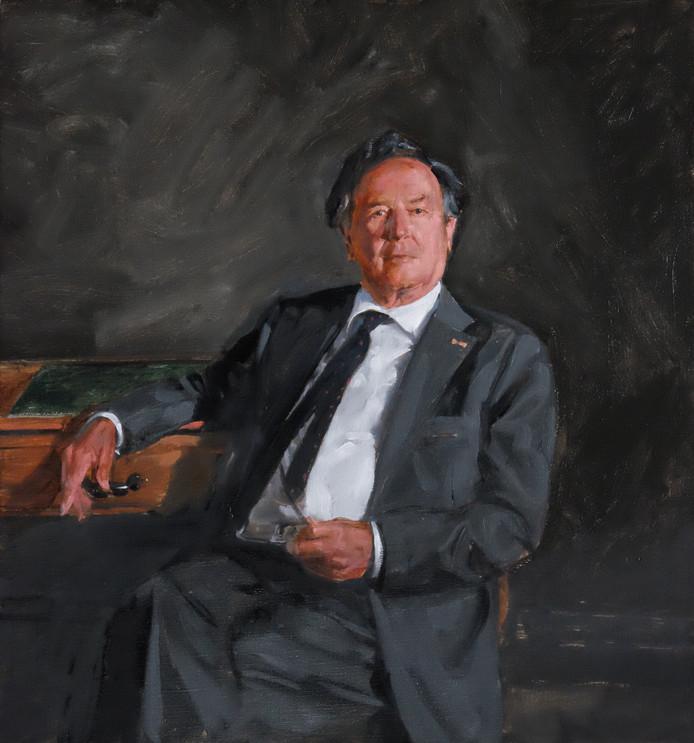 Het portret van G. van der P., waarmee Frank Leenhouts meedingt naar De Nederlandse Portretprijs.