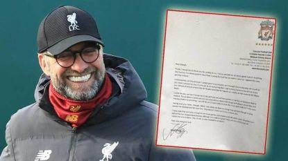 """""""Verlies, alstublieft"""": piepjonge United-fan stuurt brief naar Klopp en diens antwoord is hartverwarmend"""