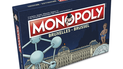 Manneken Pis moet van de Amerikanen een broekje aan op de doos van de Brusselse Monopoly