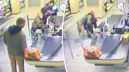 VIDEO: Overvaller heeft de pech dat net een beroepsmilitair achter hem aanschuift aan kassa