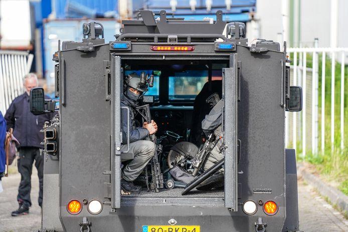 De inval werd uitgevoerd door deDienst Speciale Interventies.