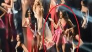 Miss Universe werd ze niet, maar deze stiekem gefilmde beelden maakten van Miss Nederland wel de hit van de avond op internet