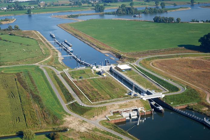 De sluis bij Empel in het Máximakanaal, in gebruik genomen in december 2014.