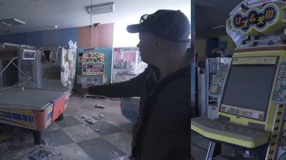 Recht uit een horrorfilm: Nederlander dringt verlaten speelhal in Fukushima binnen