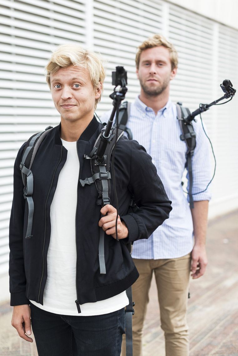 Nicolaas Veul (links) en Tim den Besten. Beeld Maarten Steenvoort