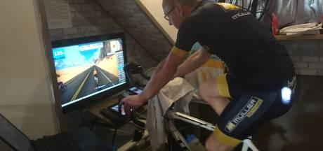 Nijkerker fietst 716 kilometer in 24 uur op z'n zolderkamer: 'Die afstand was niet eens mijn doel'