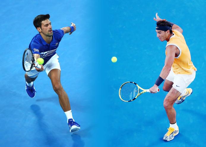 Novak Djokovic en Rafael Nadal.