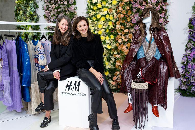 Ann-Sofie Johansson (links) van H&M en Sabine Skarule.
