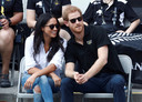 Prins Harry en Meghan Markle tijdens de Invictus Games in Toronto op 25 september 2017.