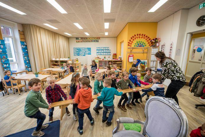 Vanwege ruimtegebrek moest basisschool De Vonder ook een speellokaal al gaan gebruiken om les te geven.
