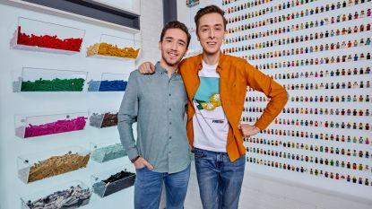 Arno en Andreas bouwen niet alleen aan hun toekomst maar ook aan waanzinnige projecten in VTM-programma LEGO MASTERS