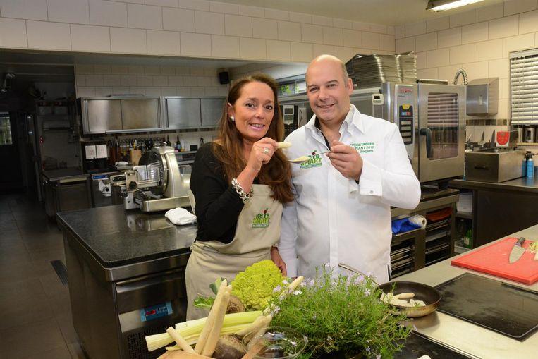 Chef Kris De Roy kookt met liefde vegetarisch voor zijn vrouw Gina.