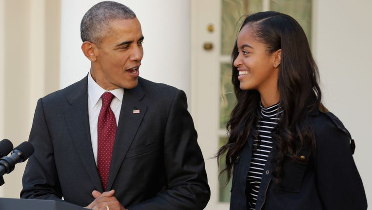 Barack Obama en zijn oudste dochter Malia.