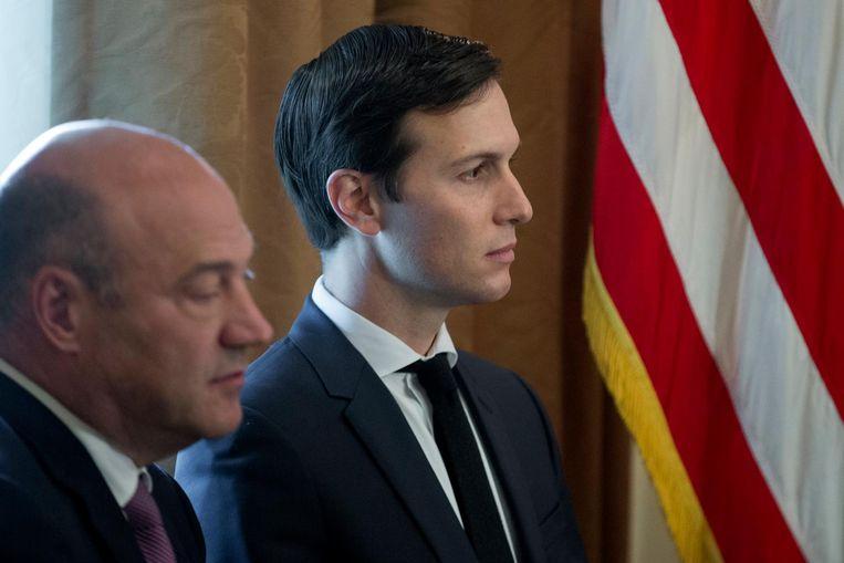 Cohn behoorde, met Trumps schoonzoon Jared Kushner, tot de gematigde krachten in het Witte Huis. Beeld EPA