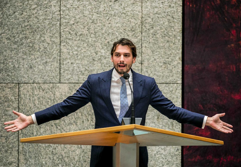 Thierry Baudet tijdens het debat met de Tweede Kamer over de aanpak van de stikstofproblematiek.