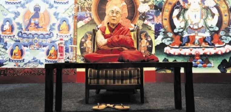 Boeddhisten hanteren storende emoties met meditatie. (FOTO AFP) Beeld AFP