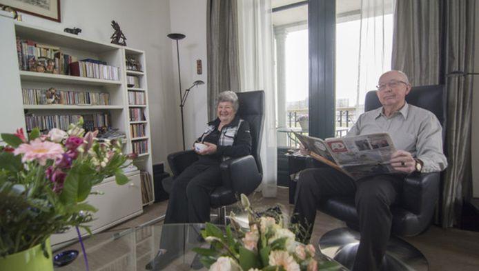 Froukje de Voogt - van Galen (79) en Dick Buitelaar (80) verkasten van Amersfoort naar het 'zorghotel' in Maarssen
