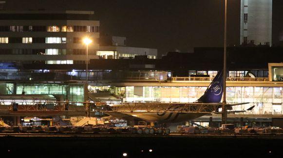 Het vliegtuig van Air Europa, vanwaaruit het valse alarm werd verstuurd.