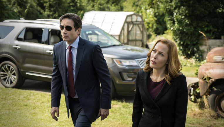 David Duchovny en Gillian Anderson in The X-Files. Beeld AP