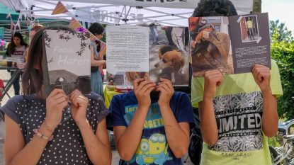 Kinderen maken magazine over Haren