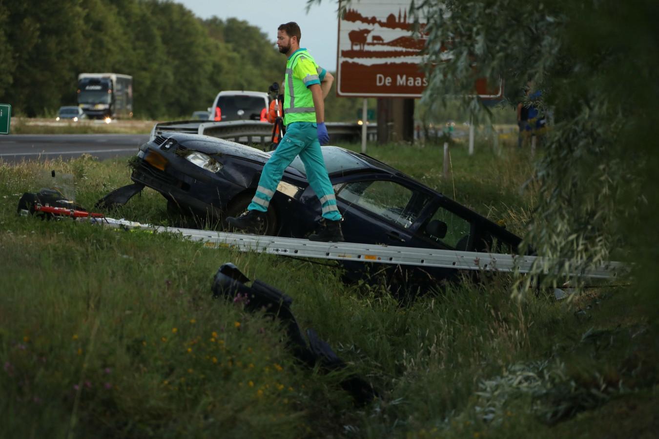 Ongeluk op A50 bij Ravenstein
