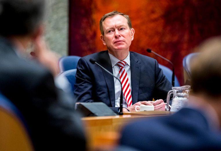 Minister Bruins tijdens het debat Beeld anp