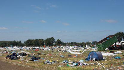 Tenten mee naar huis, maar camping blijft als vuilnisbelt achter na Pukkelpop
