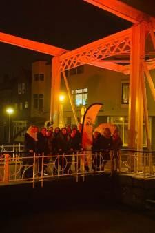 Meppeler bruggen, de Havixhorst en Steenwijker markt kleuren oranje