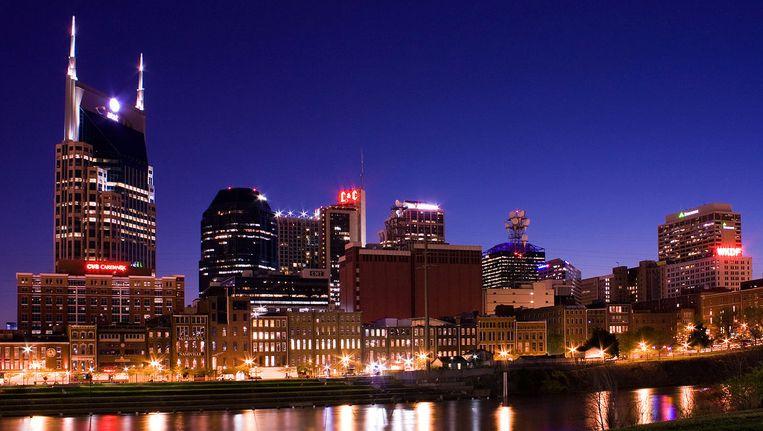 De skyline van Nashville, Tennessee.