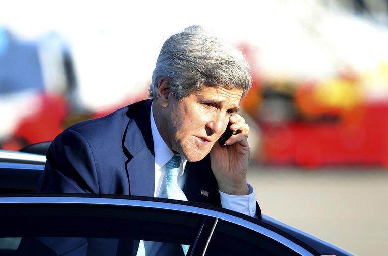 Vorig jaar werd de Amerikaanse minister van Buitenlandse Zaken, John Kerry, 'per ongeluk' afgeluisterd. Beeld belga