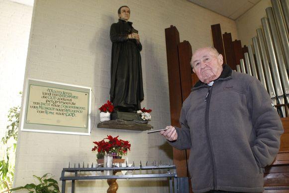Jozef Poels in de Sint-Jan Berchmanskerk.