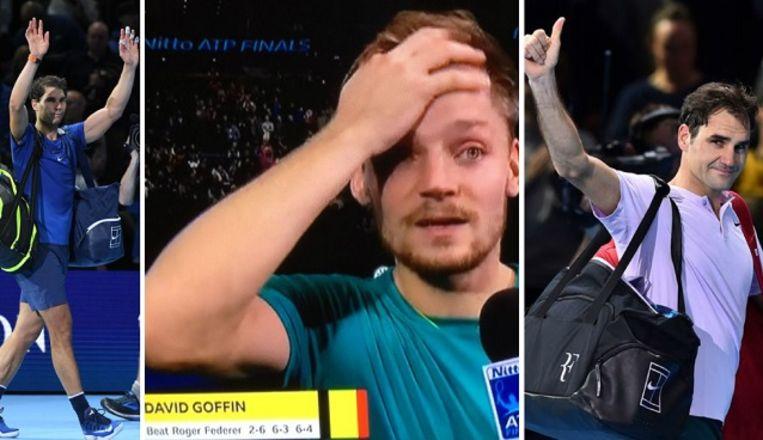 Goffin kan het nauwelijks geloven: hij klopt in zes dagen tijd zowel Nadal als Federer op de ATP Finals.