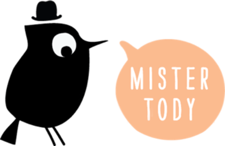 Het logo van Mister Tody