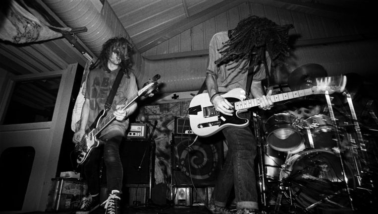 Swervedriver, 1990. Beeld Getty Images