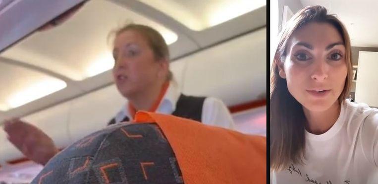 Links: de stewardess. Rechts: Zissman.