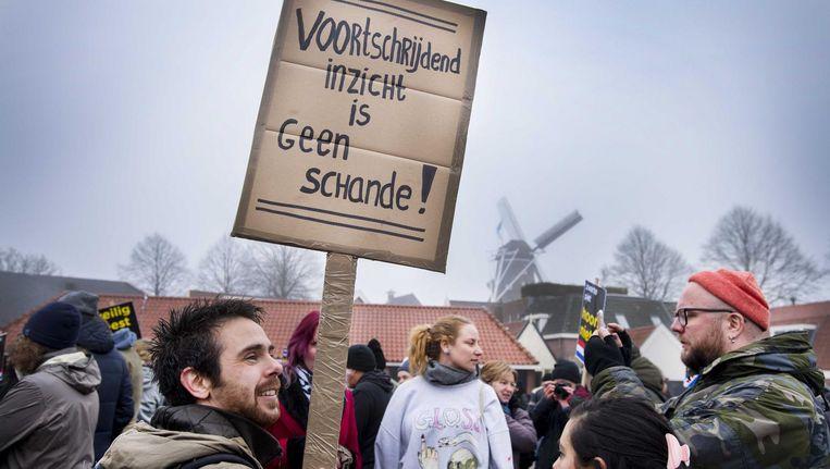 De demonstratie zaterdag in Dokkum Beeld null