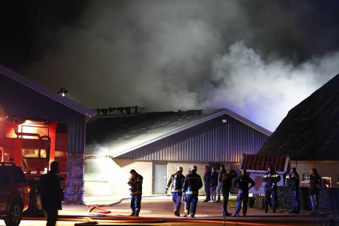 Uitslaande brand in buitengebied van Nunspeet