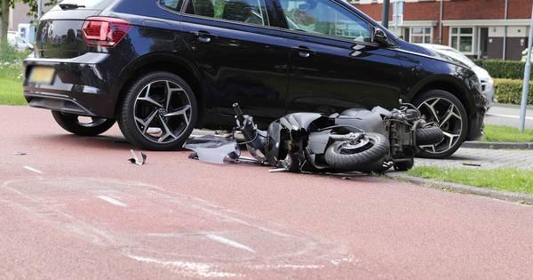 Aanrijding tussen scooterrijder en automobilist in Waalwijk.