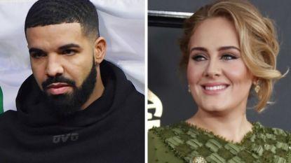 Drake 'in shock' door Adele in publiek