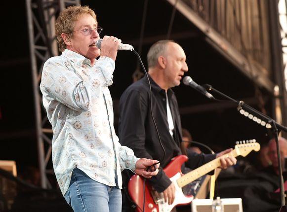 The Who, met links in beeld Roger Daltrey en rechts Pete Townshend.