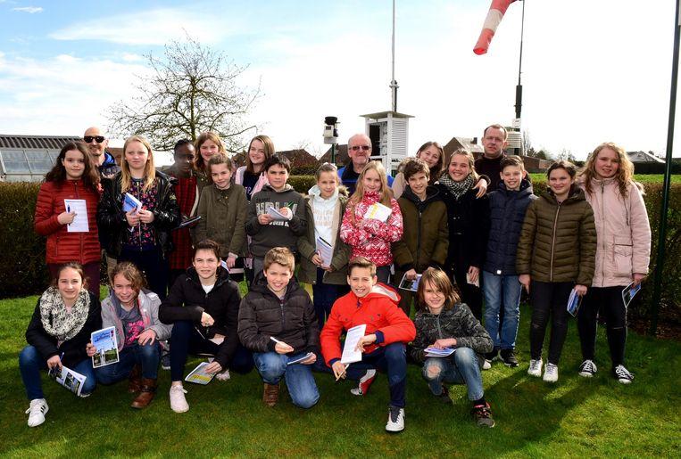 De leerlingen van het Sint-Catharinacollege kwamen naar Meteo Tollembeek