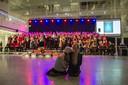 Kerst-Sing-A-Long 2015 in Atrium van stadhuis Den Haag. Ter illustratie.